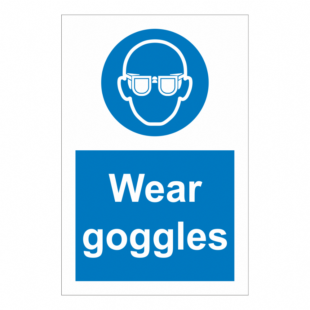 Wear Goggles Sign Safety Clothing Ppe Signs Bath